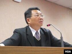 台湾在野党民进党立委陈欧珀 (美国之音张永泰拍摄)