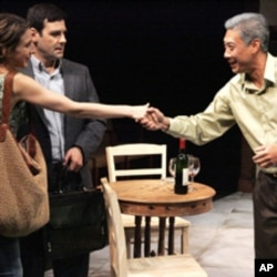 Francois Chau in the world premiere of David Wiener's Extraordinary Chambers at the Geffen Playhouse.