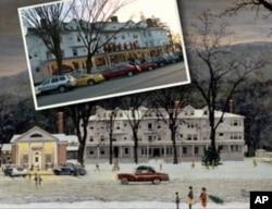 现在的红狮旅馆和画中有什么不一样呢?