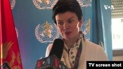 Predstavnica Svetske zdravstvene organizacije u Crnoj Gori Mina Brajović