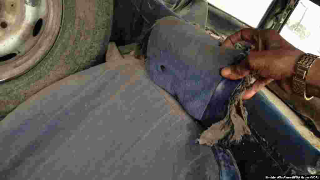 Shedar harsashi daga harin da 'yan Boko Haram suka kai.