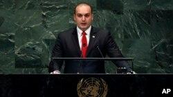Мамука Бахтадзе. Штаб-квартира ООН. Нью-Йорк, США. 27 сентября 2018 г.