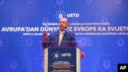 Turski predsjednik Recep Tayyip Erdoğan drži govor u Zetri, Sarajevo, 20. maj 2018.