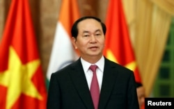 Vietnam's President Tran Dai Quang at the Presidential Palace.