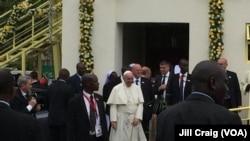 Pope Fransisiko ahejeje kugirisha imisa kuri campus yo kw'ishule kaminuza y'i Nairobi, ku murwa mukuru wa Kenya, ku musi wa kane, italiki 26 z'ukweziz kw'icumi na rimweumwaka w'2015.