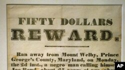 This handbill from 1850 offers an example of what runaway slaves faced.
