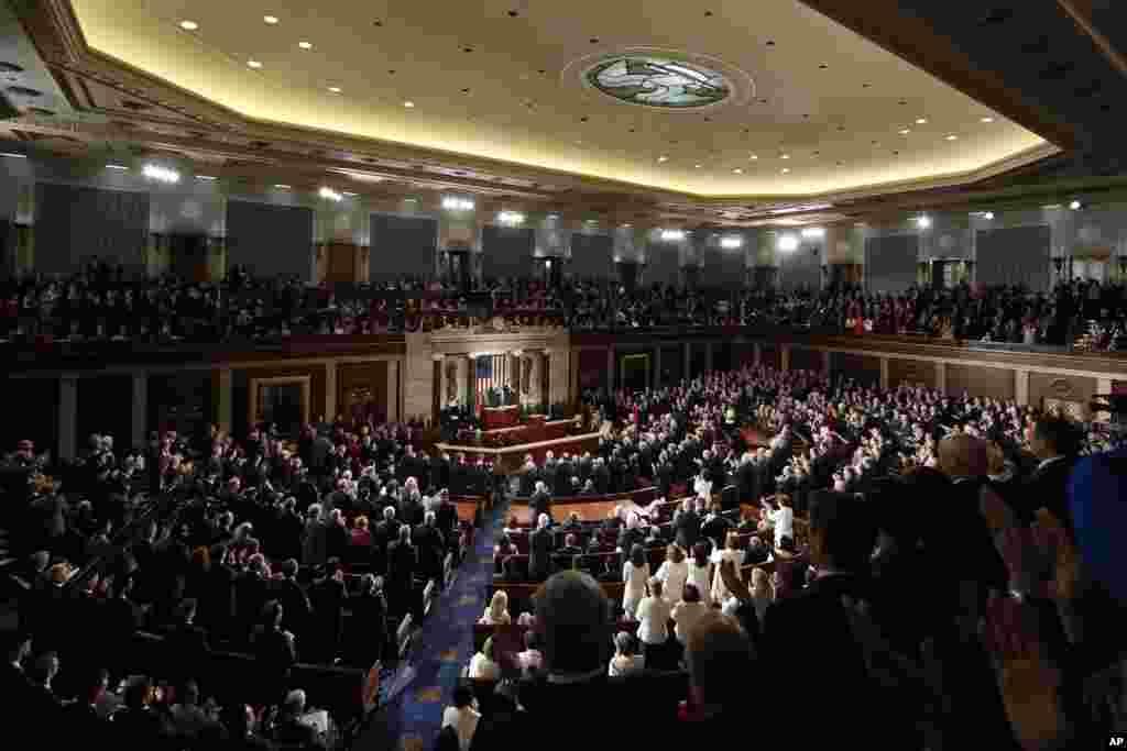 Выступление Дональда Трампа в Конгрессе США(Фото: AP/Pablo Martinez Monsivais)