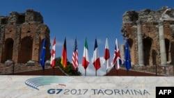Bandeiras dos sete países do G7