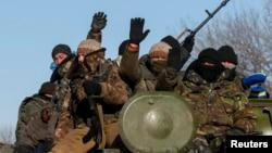 Ukrajinska vojska u blizini Debaljceva, 17. februar 2015.