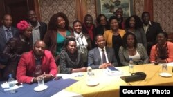 Some political activists with RB governor John Mangudya.