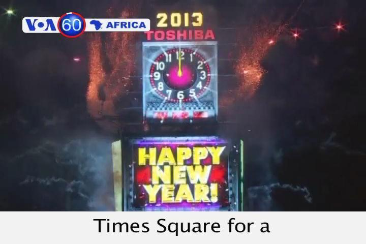 Throngs of people packNew York'sTimesSquarefor a traditional New Year's celebration.