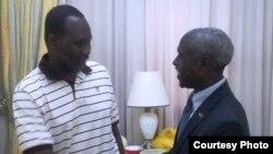 """L'ambassadeur américain du Burkina Faso a pu rencontrer le colonel Isaac Zida qui """"va bien"""" selon ses propres termes"""