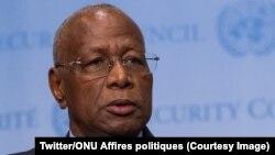 Abdoulaye Bathily, conseiller spécial du secrétaire général de l'ONU, Antonio Antonio Guterres, est envoyé comme émissaire dans la crise à Madagascar, le 27 avril 2018. (Twitter/ONU Affires politiques)