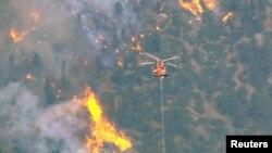 Тушение пожара в каньоне Вальдо, Колорадо