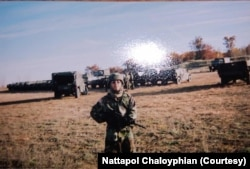 Staff Sergeant Nattapol Chaloyphian was sent to Afghanistan in 2006 for 15 months, where he primarily worked as a combat engineer.