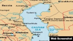 Xəzər dənizinin xəritəsi