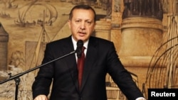 Turkey's Prime Minister Recep Tayyip Erdogan (file photo) (AP).