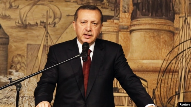 Turkey's Prime Minister Recep Tayyip Erdogan addresses during the Turkey Investment Advisory Council Meeting in Istanbul, May 11, 2012.