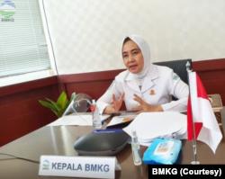Kepala BMKG Dwikorita Karnawati. (Foto: Courtesy/BMKG)