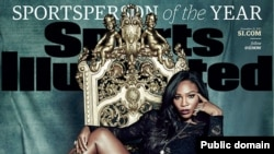 U.S. tennis champion Serena Williams on the cover of Sports Illustrated Magazine, Dec. 14, 2015.