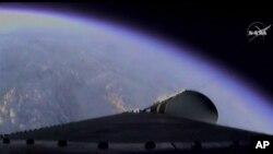 Orion'un deneme uçuşundan yansıyan ilk karelerden biri