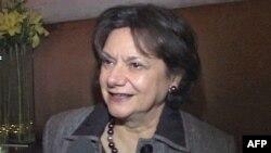 Bà Rosemary diCarlo, Phó đại sứ Hoa Kỳ tại Liên Hiệp Quốc, nói ngân khoản sẽ được giao cho giới thẩm quyền thích đáng ở Libya