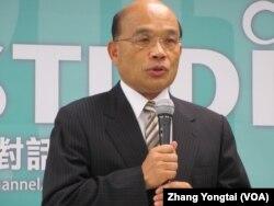 民進黨主席蘇貞昌(美國之音張永泰拍攝)