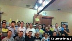 一些公民4月29日在广州举行悼念林昭活动。 (网络图片)