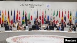 29일 G20 정상회의 폐막 회의에 정상들이 참여했다