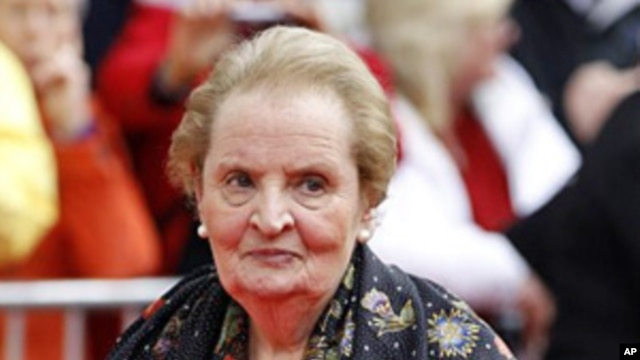 Former secretary of state Madeleine Albright (file photo)