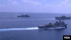 کشتی های آمریکا در اقیانوس آرام