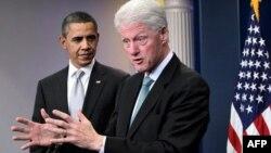 Барак Обама и Билл Клинтон (архивное фото)
