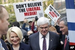 Newt Gingrich et son épouse Callista à Charleston, en Caroline du Sud