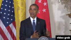 Barack Obama en conférence de presse à la Maison Blanche le 2 août 2016.