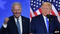 Mumiriri weDemocratic Party VaJoe Biden nemumiriri wePrepublican Party, vari mutungamiri wenyika, VaDonald Trump.