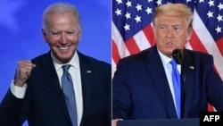 Capres Demokrat Joe Biden dan Presiden AS Donald Trump