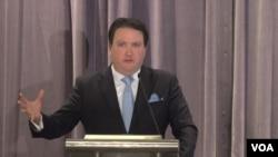 마크 내퍼 국무부 동아태 부차관보 대행이 6일 한미경제연구소, KEI 주최로 열린 토론회에서 미-한 동맹의 중요성에 대해 연설했다.