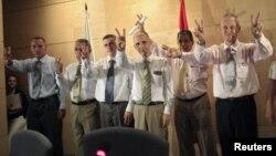 Prisioneros políticos cubanos acogidos por España en 2010.