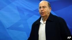 İsrail Savunma Bakanı Moşe Yaalon