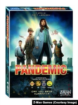 Pandemic is based on the premise that four diseases have broken out in the world, each threatening to wipe out a region. If players cure the four diseases, they all win.