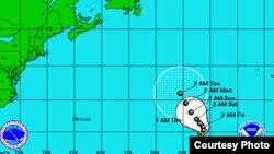 """El Centro Nacional de Huracanes de Estados Unidos ha calificado a Michael como un """"ciclón tropical pequeño pero poderoso""""."""