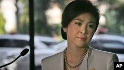 ထုိင္း၀န္ႀကီးခ်ဳပ္ Yingluck Shinawatra။