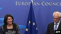 Presidentja e Kosovës Atifete Jahjaga në Bruksel