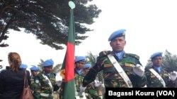 Des casques bleus de la mission des Nations unies en Centrafrique