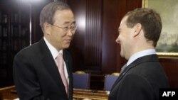 Пан Ги Мун и Дмитрий Медведев