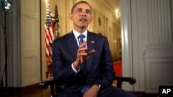 奥巴马总统星期六发表每周例行讲话(资料照)
