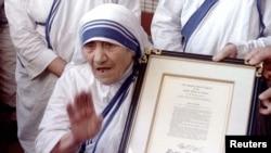 Mendiang Ibu Teresa, biarawati Katolik Roma keturunan Albania (foto: dok).