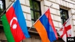 Azərbayca, Ermənistan və gürcüstanın bayraqları