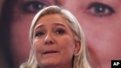 Marine Le Pen, le 7 décembre 2015 à Lille. (AP Photo/Michel Spingler)