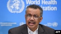 """世界卫生组织总干事谭德塞在世卫组织日内瓦总部宣布武汉爆发的疫情为""""国际关注的突发公共卫生事件""""。"""